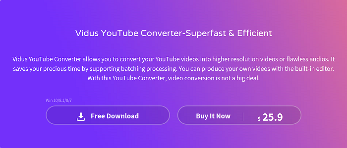 vidus YouTube to MP4 Converter